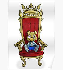 Kanye West - Graduation Bear on Throne Poster