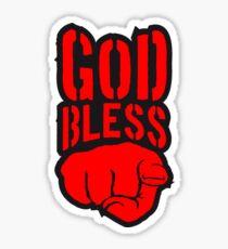 segne god bless you finger zeigen hand lustig gott jesus logo design  Sticker
