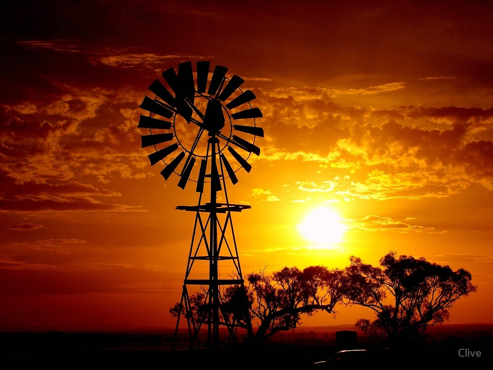 Quot Rural Sunset Quot By Clive Redbubble