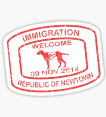 Republic of Newtown - 2014: Sticker Red Sticker