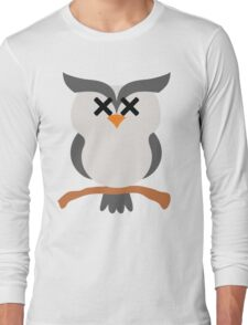 Night Owl Emoji Faint and Knock Out Face Long Sleeve T-Shirt