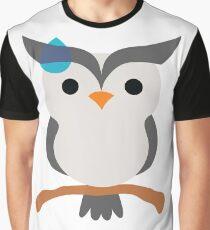 Night Owl Emoji Sweat and Speechless Face Graphic T-Shirt