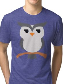 Night Owl Emoji Look Left and Right Face Tri-blend T-Shirt