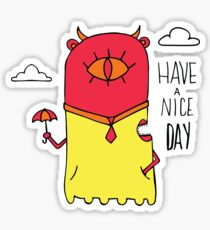 Have a Nice Day Illustration Sticker