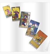 Tarot Cards 0 - 4 Poster