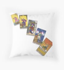 Tarot Cards 0 - 4 Throw Pillow
