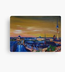Berlin Germany Skyline at Dusk Canvas Print