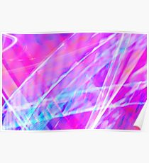 Abstract light painting Poster