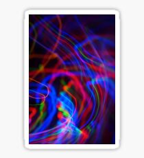 neon led abstract Sticker