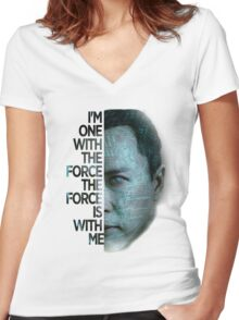 Star Wars : Rogue One  Women's Fitted V-Neck T-Shirt