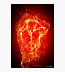 FIRE MAN  Photographic Print