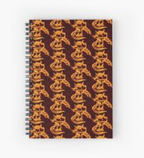 Draco the Dragon burning Spiral Notebook