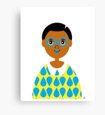 Girl 3 - Goggles and Raindrops Canvas Print