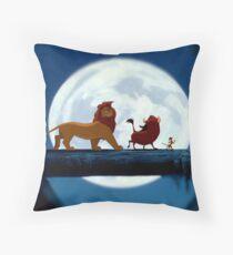 Simba, Pumba, and Timon  Throw Pillow
