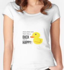 Happy as a Duck Women's Fitted Scoop T-Shirt