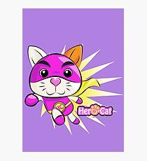 Hero Cat - Burst Photographic Print