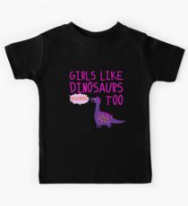 Girls Like Dinosaurs Kids Tee