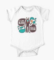 Niedliche und gruselige Vampirillustration Baby Body Kurzarm