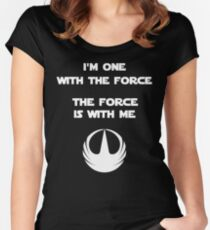 Star Wars Rogue One - I'm One with the Force Women's Fitted Scoop T-Shirt