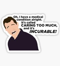 Caring Too Much Sticker