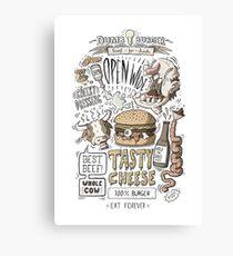 Dumb burger Canvas Print