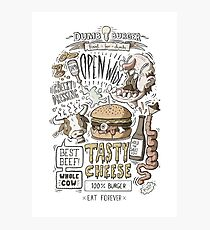 Dumb burger Photographic Print