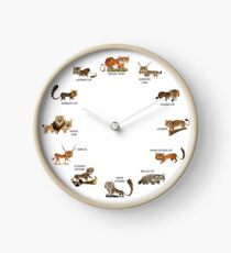Wild Cats of India Clock Clock