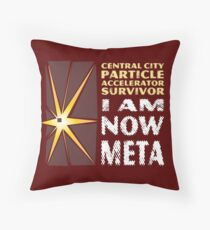 I Am Now Meta Throw Pillow