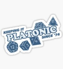 Platonic Love Since 74 Sticker