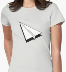Paper Airplane 1 Women's Fitted T-Shirt