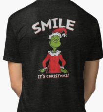 Smile it's Christmas! Tri-blend T-Shirt