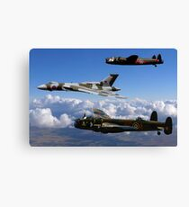 Avro Vulcan and Lancasters Canvas Print