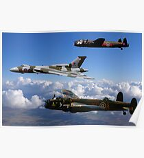 Avro Vulcan and Lancasters Poster