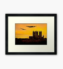 Two Lancasters over Lincoln cathedral Framed Print
