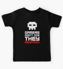 Pixel Skull Gamers Don't Die Kids Clothes