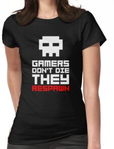 Pixel Skull Gamers Don't Die Womens Fitted T-Shirt