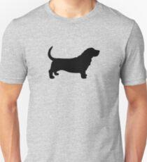 Basset Hound Silhouette(s) Unisex T-Shirt