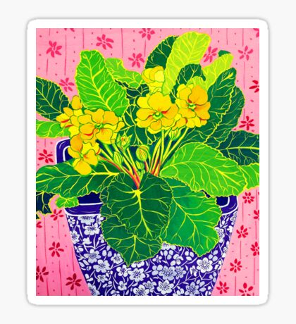 Pretty Primulas Sticker