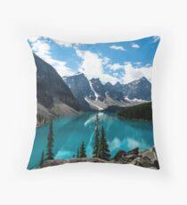 Lake Valley Scenery Throw Pillow