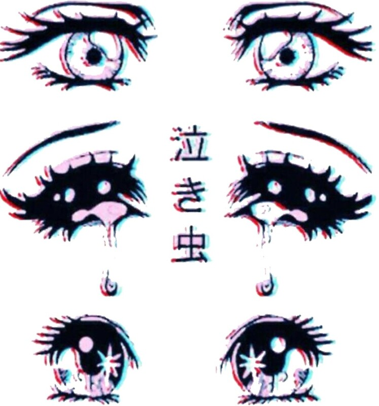 Quot Anime Vaporwave Eyes Quot By Vapormoon Redbubble