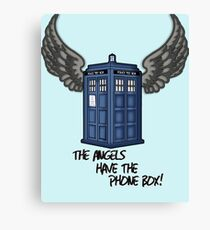 The Angels Have the Phone Box - Doctor Who Canvas Print