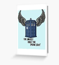 The Angels Have the Phone Box - Doctor Who Greeting Card