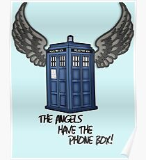 The Angels Have the Phone Box - Doctor Who Poster