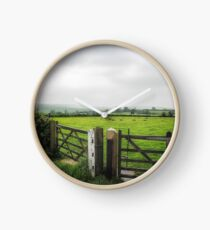 English Country Landscape 1 Clock