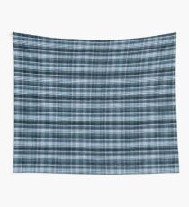 Navy blue checked cotton cloth  Wall Tapestry