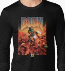 Doom - 1993 Poster PC FPS  Long Sleeve T-Shirt