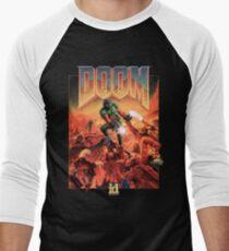 Doom - 1993 Poster PC FPS  Men's Baseball ¾ T-Shirt
