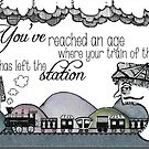 Your train of thought has left the station by Jenny Wood