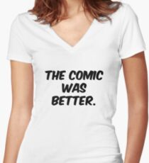 The Comic was Better Women's Fitted V-Neck T-Shirt