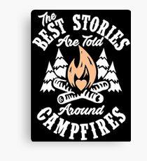 Campfire Stories Canvas Print